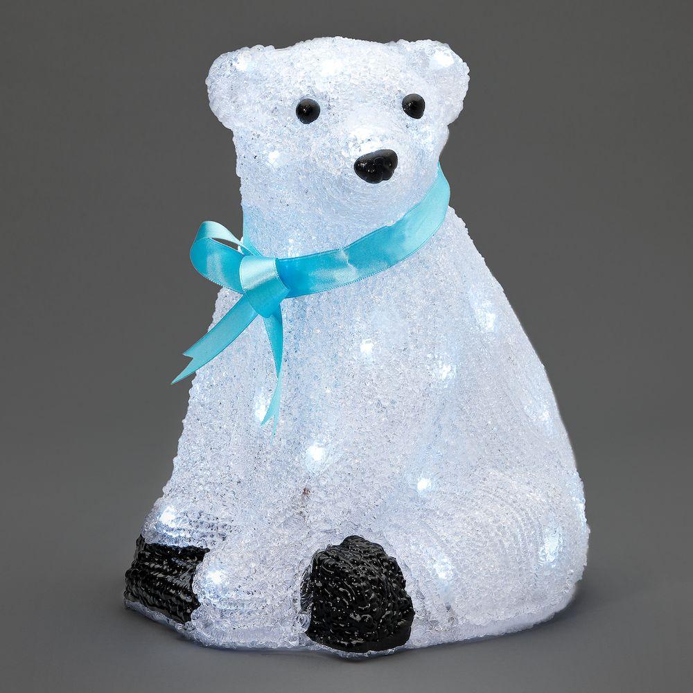 isbjörn med led belysning